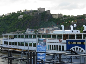 Paddle-wheeler Goethe of  the K-D line in Koblenz