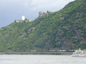 "Castles known as ""Hostile Brothers"" (note train and ship below)"