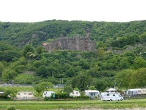 One of many caravan camps along the Rhine and Moselle Rivers