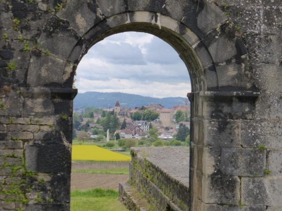 The west gate with Avenches in the distance